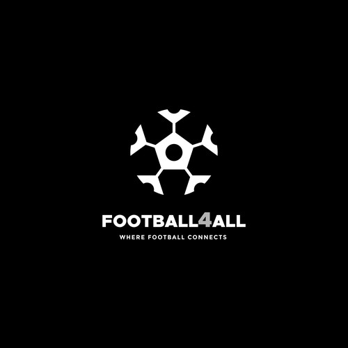 Connection logo with the title 'Smart shape logo for football web brand'