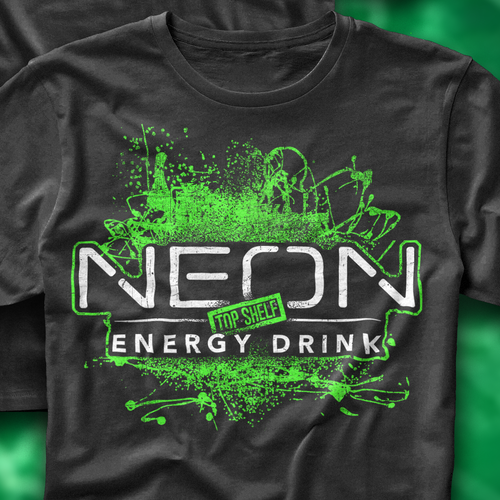 Energy drink design with the title 'Neon Energy Drink!'