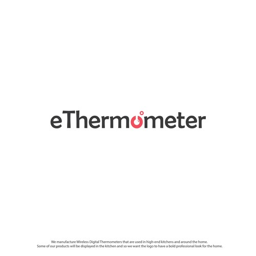 Degree logo with the title 'Wordmark Logo for eThermometer.'