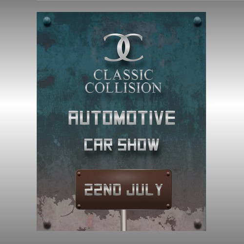 Automotive artwork with the title 'Poster design'