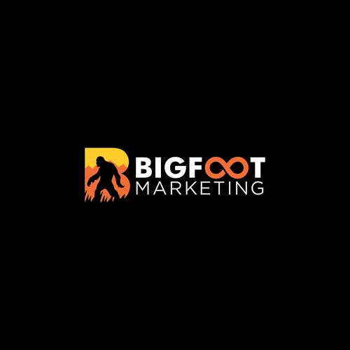 Sasquatch logo with the title 'Bigfoot Marketing Logo design'