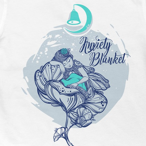 Peace design with the title 'Anxiety Blanket T shirt'