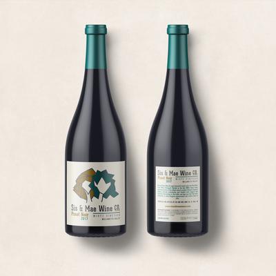 Minimal concept for wine label