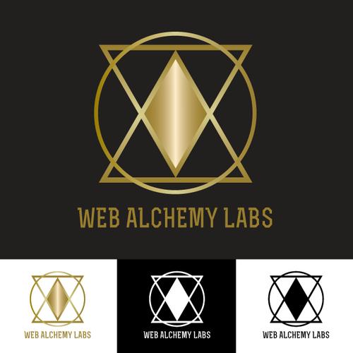 Alchemy logo with the title 'logo design for digital media agency Web Alchemy Labs'
