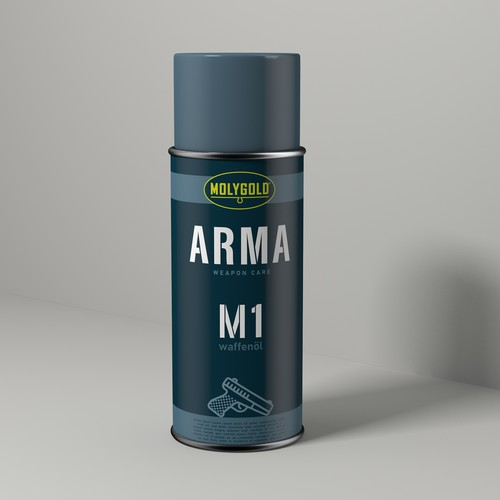 Cleaner design with the title 'cleaning agent ARMA blue'