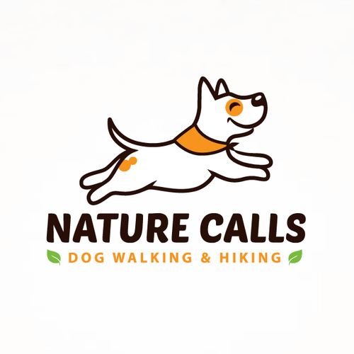 Hiking logo with the title 'Nature Calls'