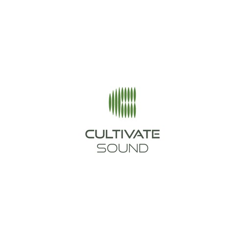 Vibration logo with the title 'Concept for Cultivate Sound, a sound production studio'