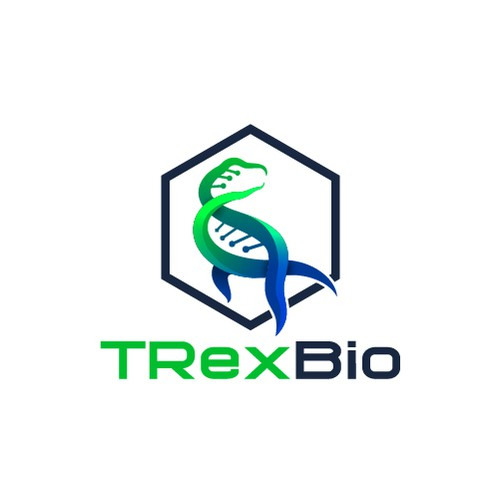 Dinosaur logo with the title 'Strong Logo for Bio Research Company'