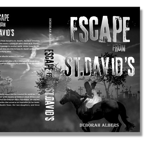 Ghost book cover with the title 'Escape from a cemetary'