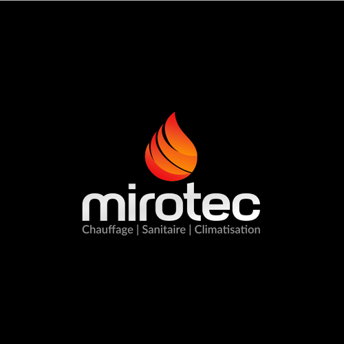 Burning design with the title 'mirotec'