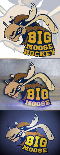 Hockey stick logo with the title 'HOKEY LOGO'