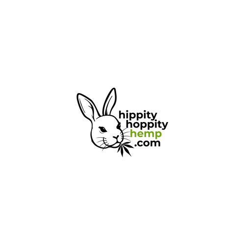 Ganja logo with the title 'HippityHoppityHemp.com Logo Concept'
