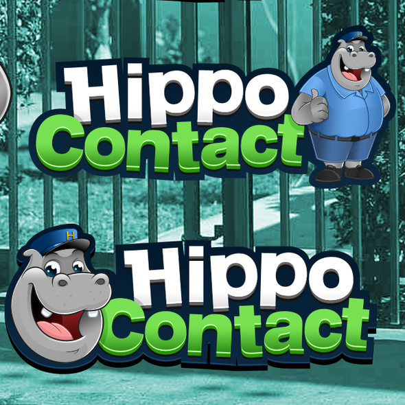 Contact design with the title 'Hippo Contact needs a new logo'