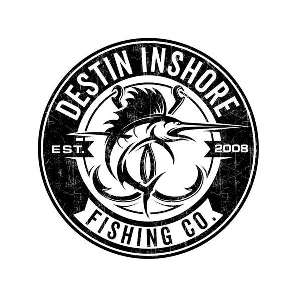 Fishing logo with the title 'Destin Inshore Fishing Co.'