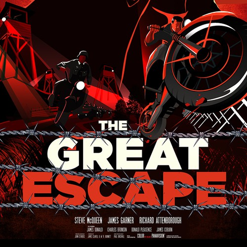"Drama design with the title '""The Great Escape"" Movie Poster. A John Sturges Film'"