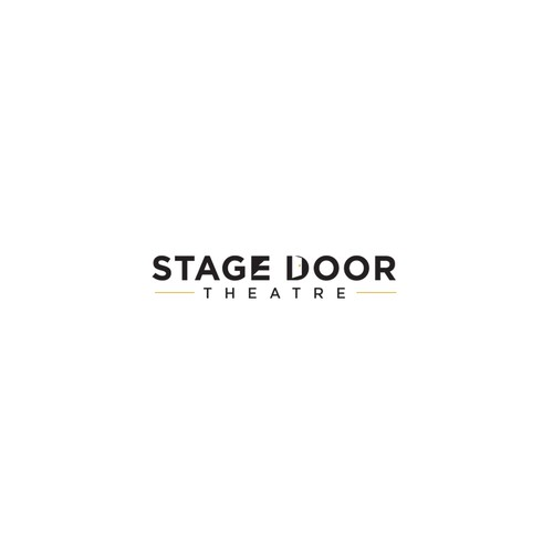 Theater logo with the title 'Stage Door Theatre'
