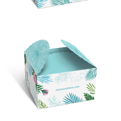 Botanical hand drawn design. Box packaging design with floral hand-drawn watercolor illustration.