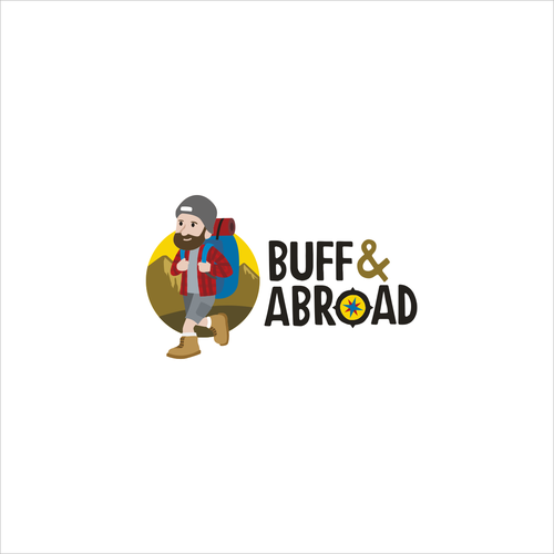 Hiking logo with the title 'Logo for Traveling Blog'