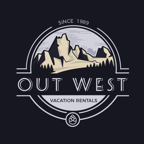 Western design with the title 'Mountains Logo'