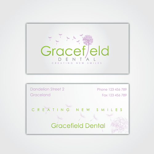 Dandelion logo with the title 'logo for Gracefield Dental'