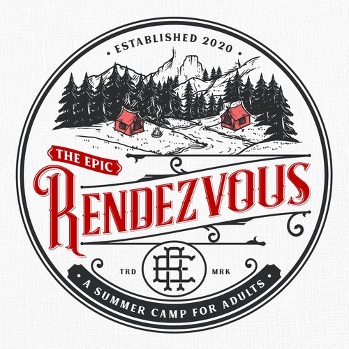 Black and red logo with the title 'The Epic Rendezvous'