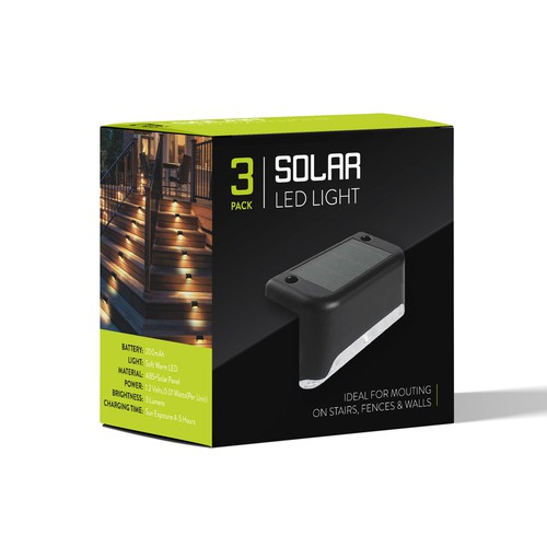 Solar energy design with the title 'Solar Light Packaging'