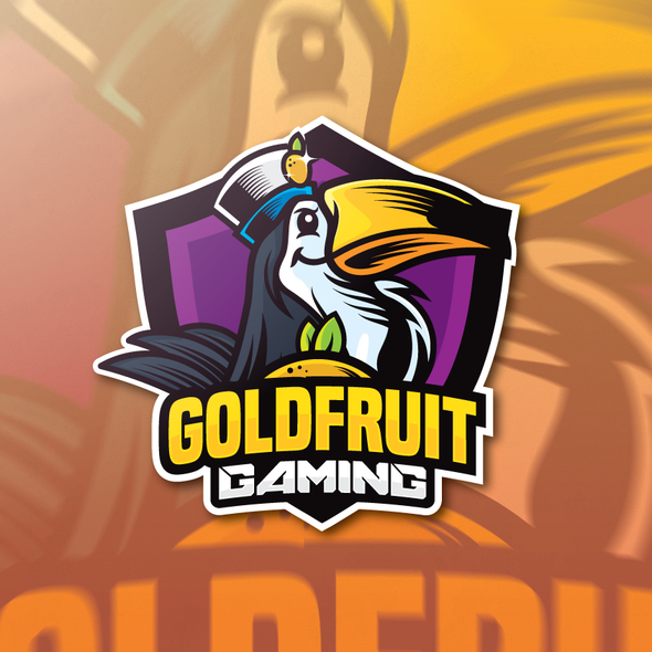 Twitch logo with the title 'GoldFruit Gaming Shield'