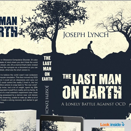 Old book cover with the title 'The last man on earth'