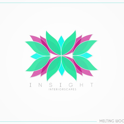 Floral logo with the title 'ropical Leaf Design for indoor Landscape Company'