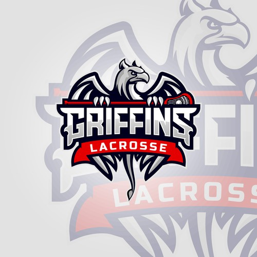 Griffin design with the title 'Lacrosse'