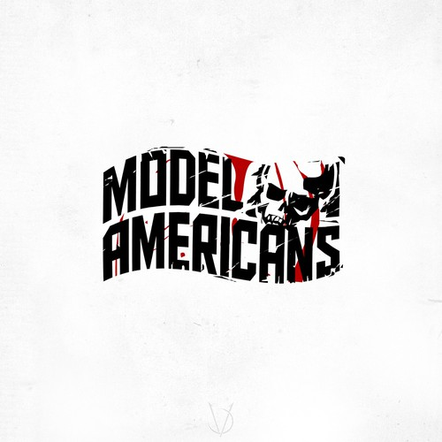 Rock and roll design with the title 'Model Americans'