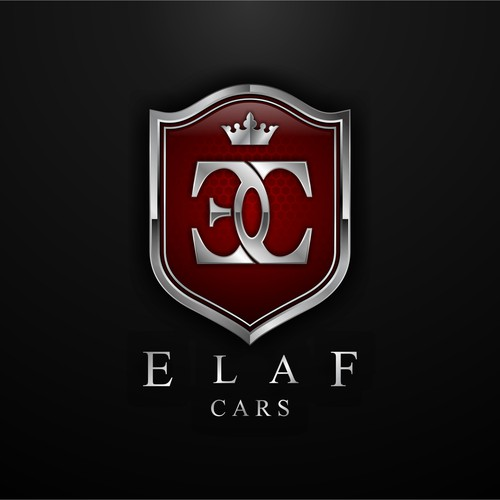 Crest logo with the title 'Elaf Cars'