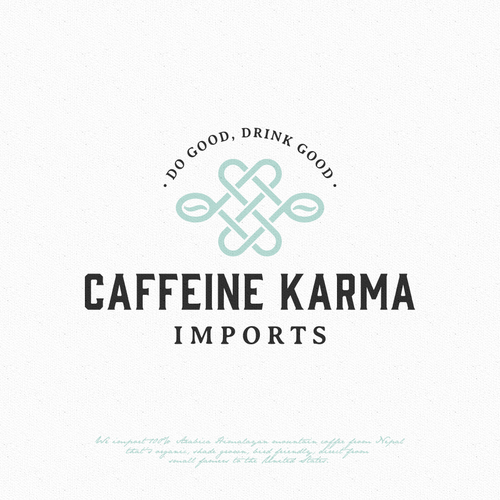 Bean logo with the title 'Caffeine Karma'
