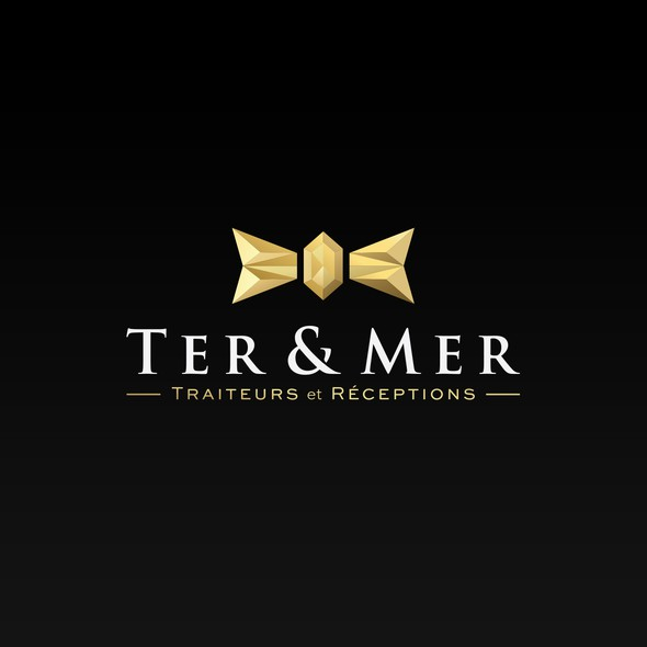 Catering logo with the title 'Luxury logo design for a catering service company'