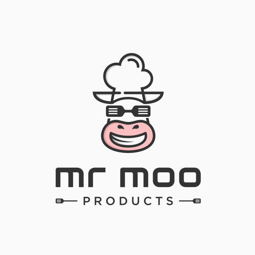 Kitchenware logo with the title 'mr moo products'