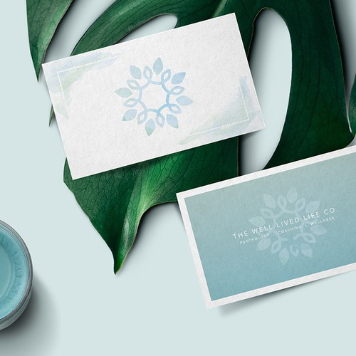 Spa brand with the title 'Playful take on a Coaching and Psychology Practice Brand Identity'