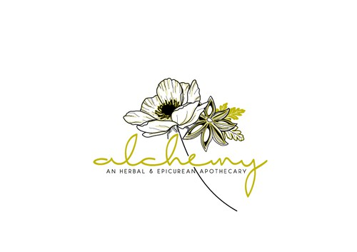 Flower brand with the title 'Create a contemporary logo for an herbal apothecary in Jackson Hole, WY.'