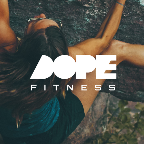 Fitness logo with the title 'DOPE FITNESS'