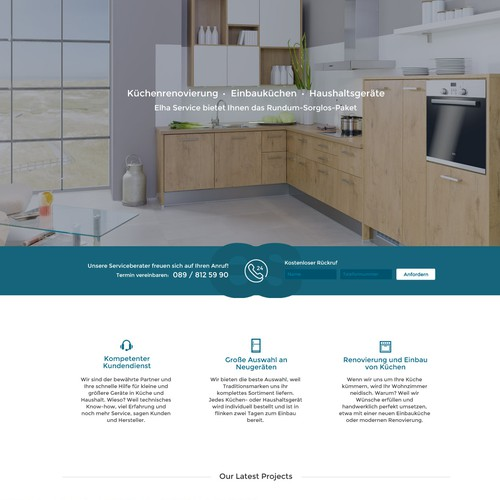 Property website with the title 'Home furnishing Interior Website Homepage Design'