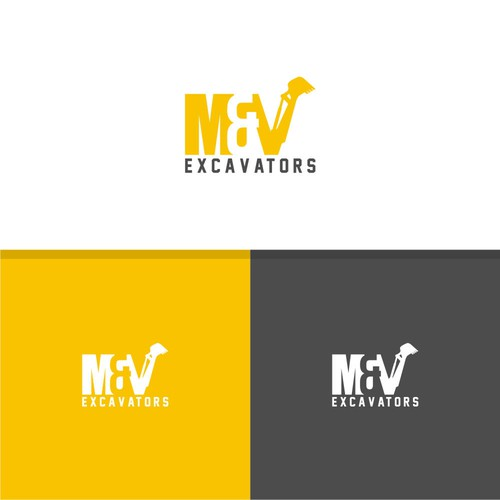 Heavy logo with the title 'M & N Escavator Logo'