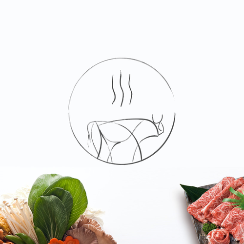 Steam logo with the title 'Picasso style identity for shabu shabu chain'