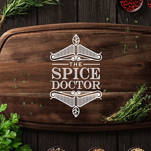 Rice design with the title 'Design Logo for Spice Company'