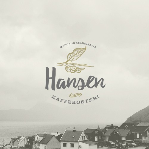 Village design with the title 'A new scandinavian coffee brand'