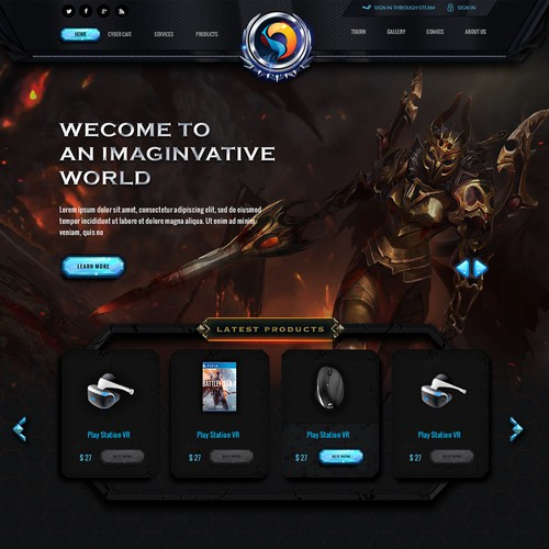 Forum design with the title 'Gaming portal'