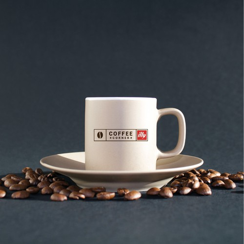 "Aroma design with the title 'Create ""Coffee Corner"" brand/sign'"
