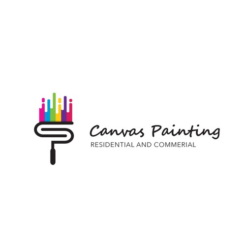 Canvas design with the title 'Canvas Paiting Logo'