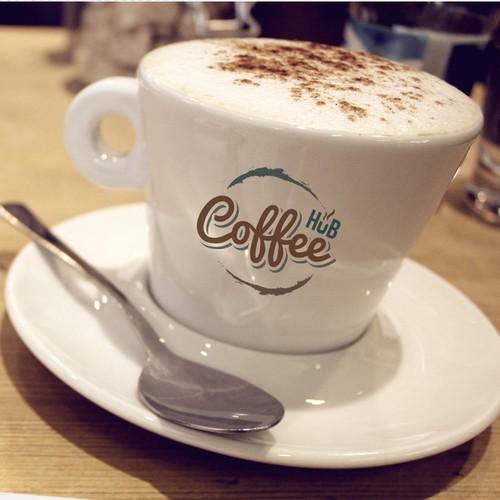 Hub design with the title 'Logo Coffee Hub'