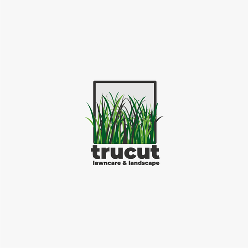 Lawn care logo with the title 'TruCut Logo Concept'