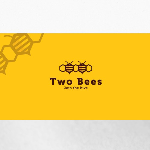 Bee design with the title 'Create a business logo for Two Bees - a digital marketing training company.'