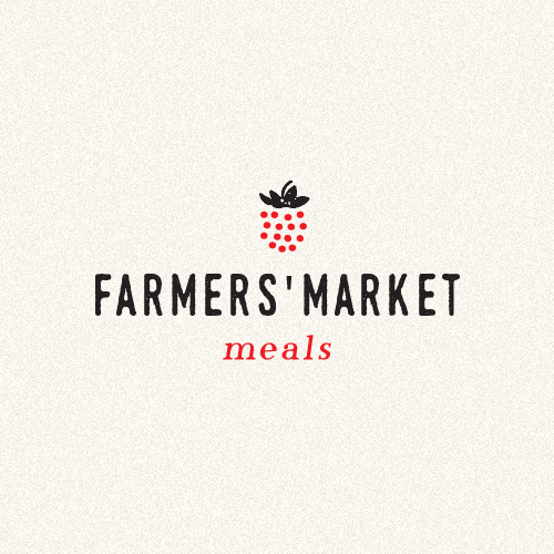 Berry logo with the title 'Farmers' Market Meals'